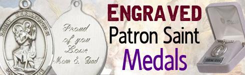 Engraved Patron Saint Medals