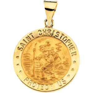 Saint christopher medals and st christopher pendants 14 karat gold saint christopher medals aloadofball Images