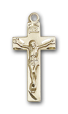 14K Gold Crucifix Pendant