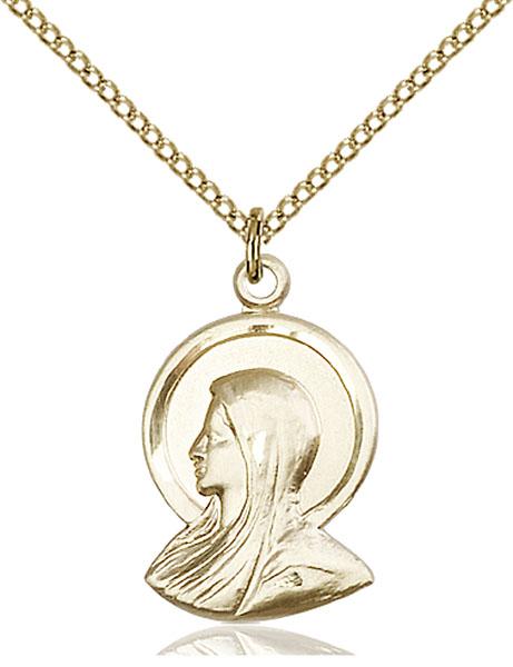 Gold-Filled Madonna Pendant