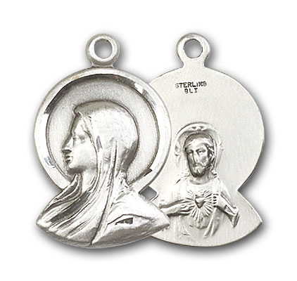 Sterling Silver Madonna Pendant