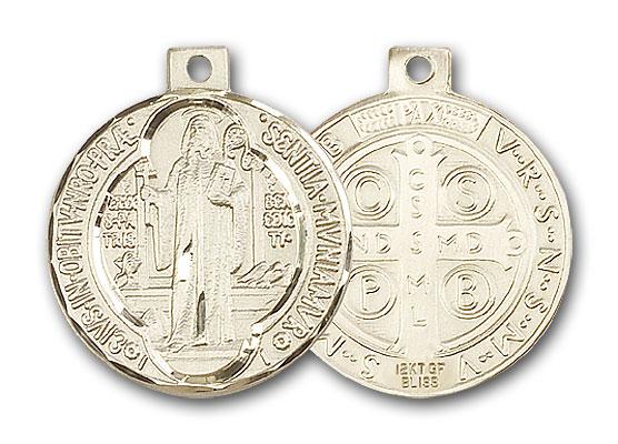 14K Gold St. Benedict Pendant