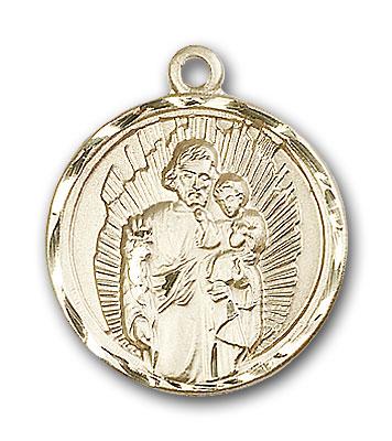 14K Gold St. Joseph Pendant - Engravable
