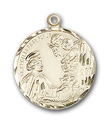 Gold-Filled St. Cecilia Pendant