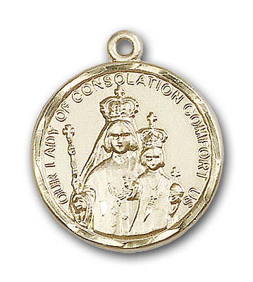 14K Gold Our Lady of Consolation Pendant - Engravable