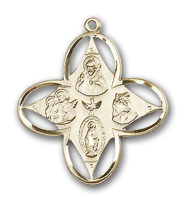 14K Gold 4-Way Pendant