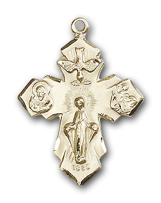 Gold-Filled 4-Way Pendant
