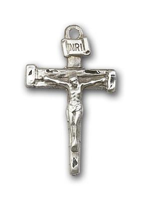 Sterling Silver Nail Crucifix Pendant