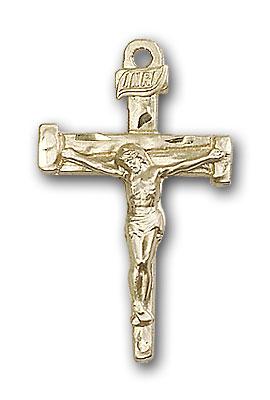 Gold-Filled Nail Crucifix Pendant