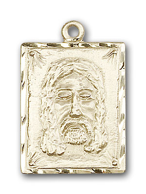 14K Gold Holy Face Pendant