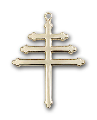 14K Gold Marionite Cross Pendant