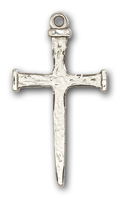 Sterling Silver Nail Cross Pendant