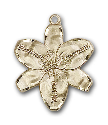 14K Gold Chastity Pendant