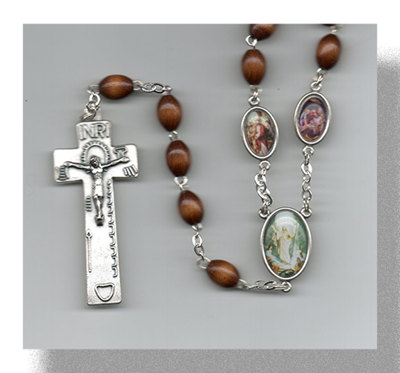Brown Stations Of The Cross Rosary