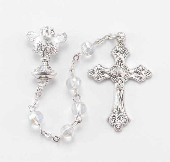 5MM Crystal Aurora Borealis Communion Rosary