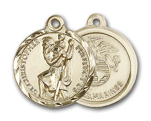 Gold-Filled St. Christopher Pendant