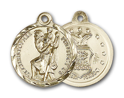 14K Gold St. Christopher Pendant