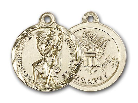 14K Gold St. Christopher Pendant