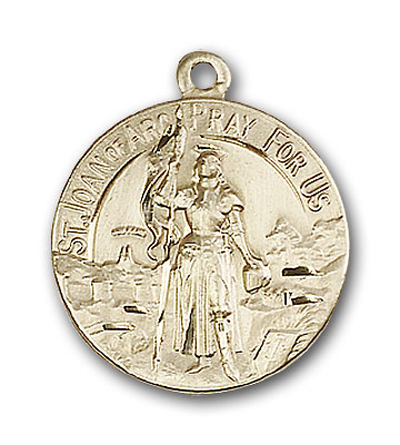 14K Gold St. Joan of Arc Pendant - Engravable