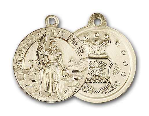 14K Gold St. Joan of Arc Pendant