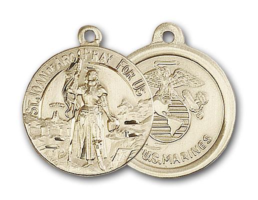14K Gold St. Joan of Arc Pendant