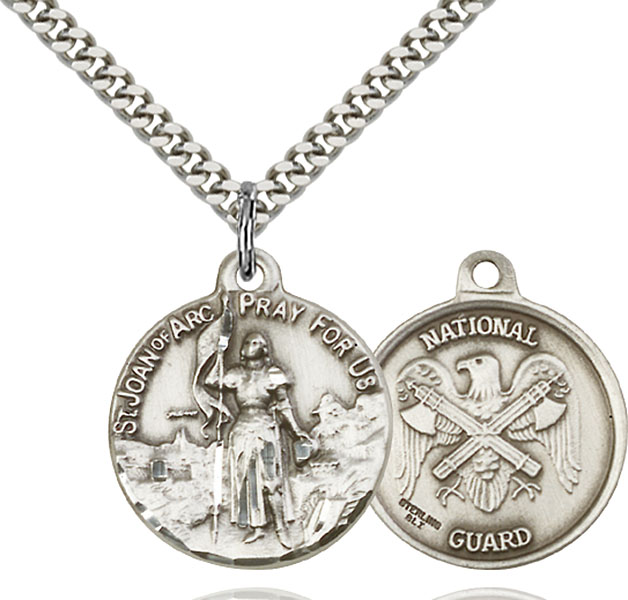 Sterling Silver St. Joan of Arc Pendant