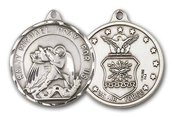 Sterling Silver St. Michael / Air Force Pendant