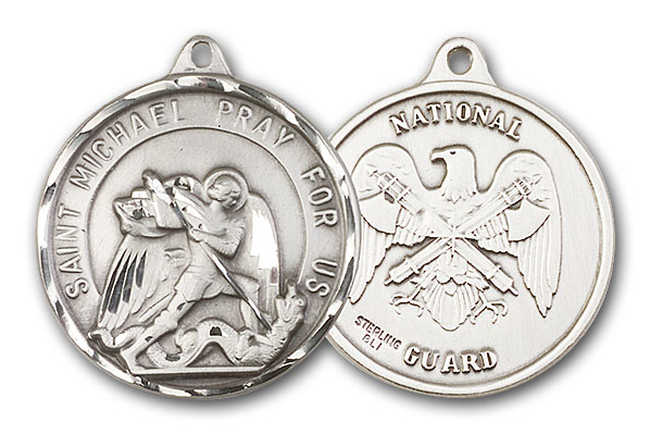 Sterling Silver St. Michael / National Guard Pendant