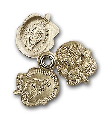 14K Gold Rosebud Pendant