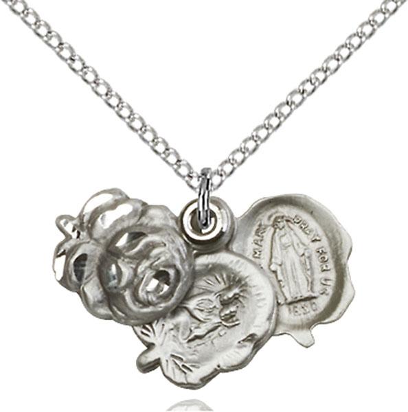 Sterling Silver Rosebud Pendant