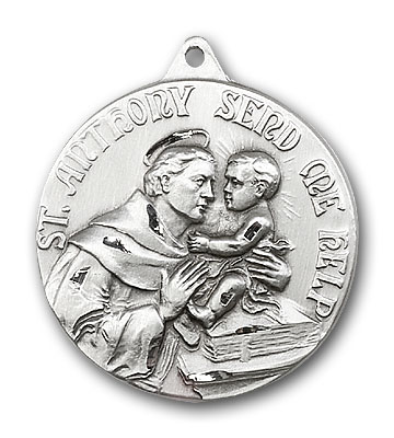 Sterling Silver St. Anthony Pendant