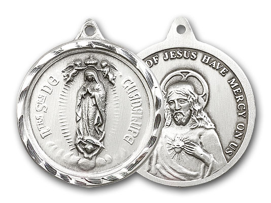Sterling Silver Our Lady of Guadalupe Pendant