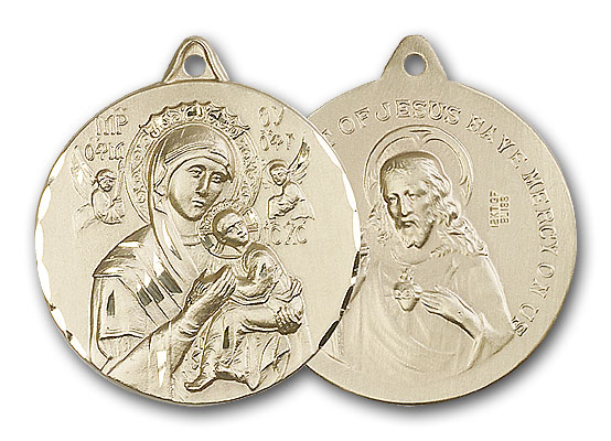 14K Gold Our Lady of Perpetual Help Pendant - Engravable