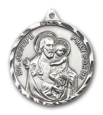Sterling Silver St. Joseph Pendant