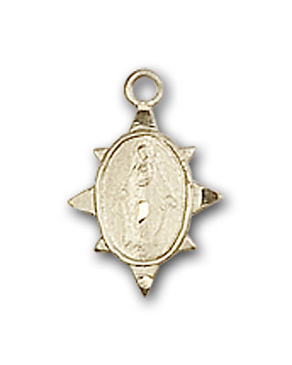 14K Gold Sun-shaped Miraculous Medal
