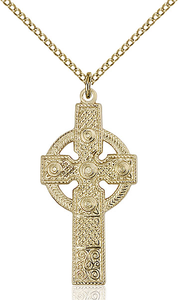 Gold-Filled Kilklispeen Cross Pendant