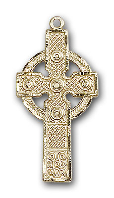 14K Gold Kilklispeen Cross Pendant