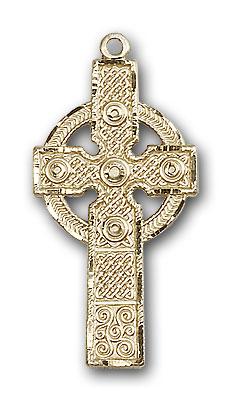 14K Gold Kilklispeen Cross Pendant