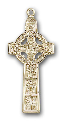 Gold-Filled Scriptures Cross Pendant