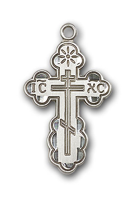 Sterling Silver St. Olga Pendant