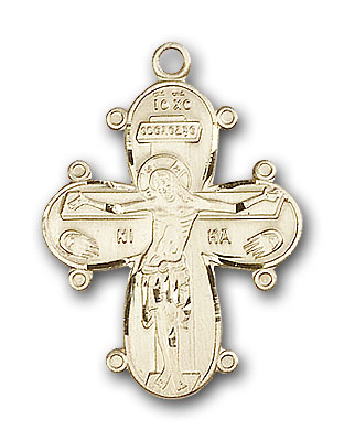 14K Gold Christine Cross Pendant