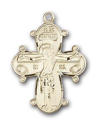 14K Gold Christine Cross Pendant