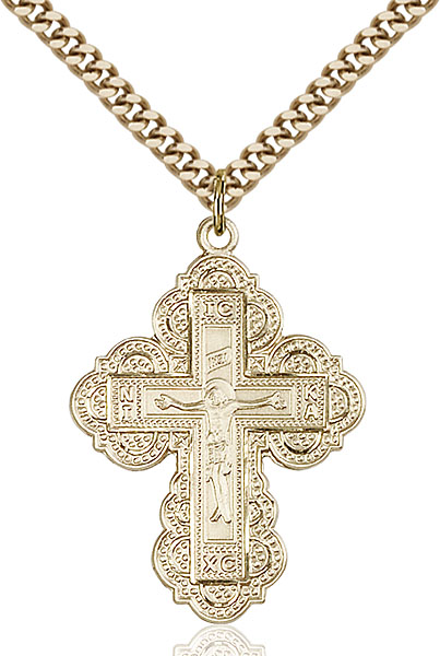 Gold-Filled Irene Cross Pendant