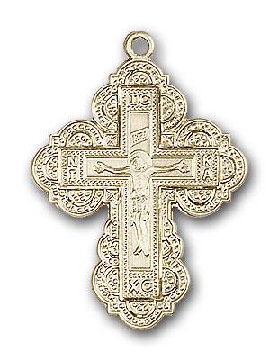 14K Gold Irene Cross Pendant