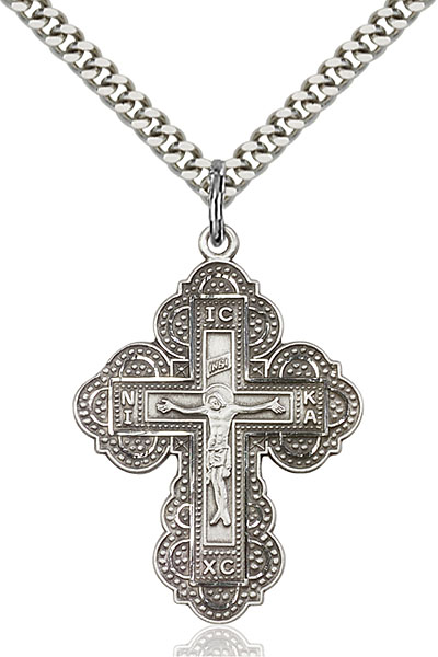 Sterling Silver Irene Cross Pendant