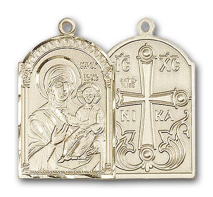 Gold-Filled Mother of God Pendant
