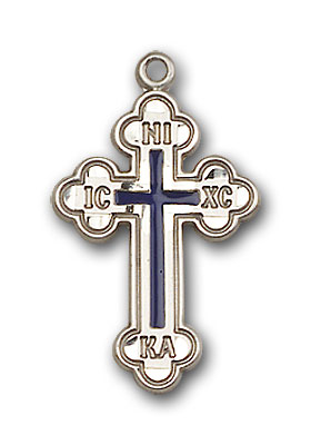 Sterling Silver Russian Cross Pendant