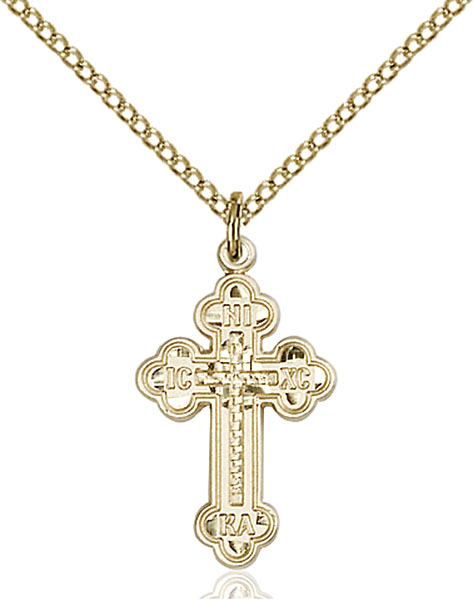 Gold-Filled Russian Cross Pendant