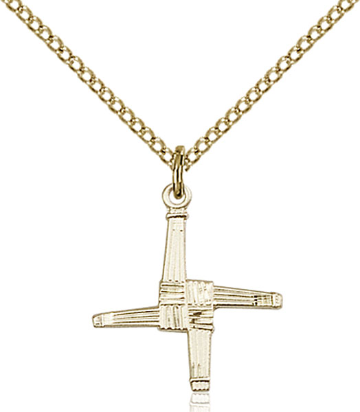 Gold-Filled St. Brigid Cross Pendant