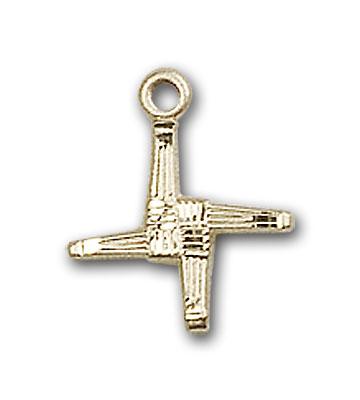 14K Gold St. Brigid Pendant